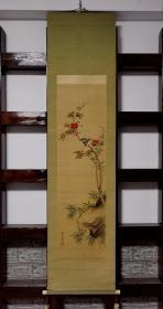 章文款,绢本花鸟