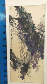 江老师 (国画)  原裱,名家作品总政老干部学院创作研究员。》10