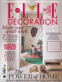 ELLE DECORATION 住宅装饰2021年3月 英国版室内装修设计英文杂志