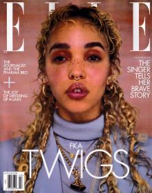 美国版 ELLE 2021年3月 女士时尚服饰潮流服装英文杂志