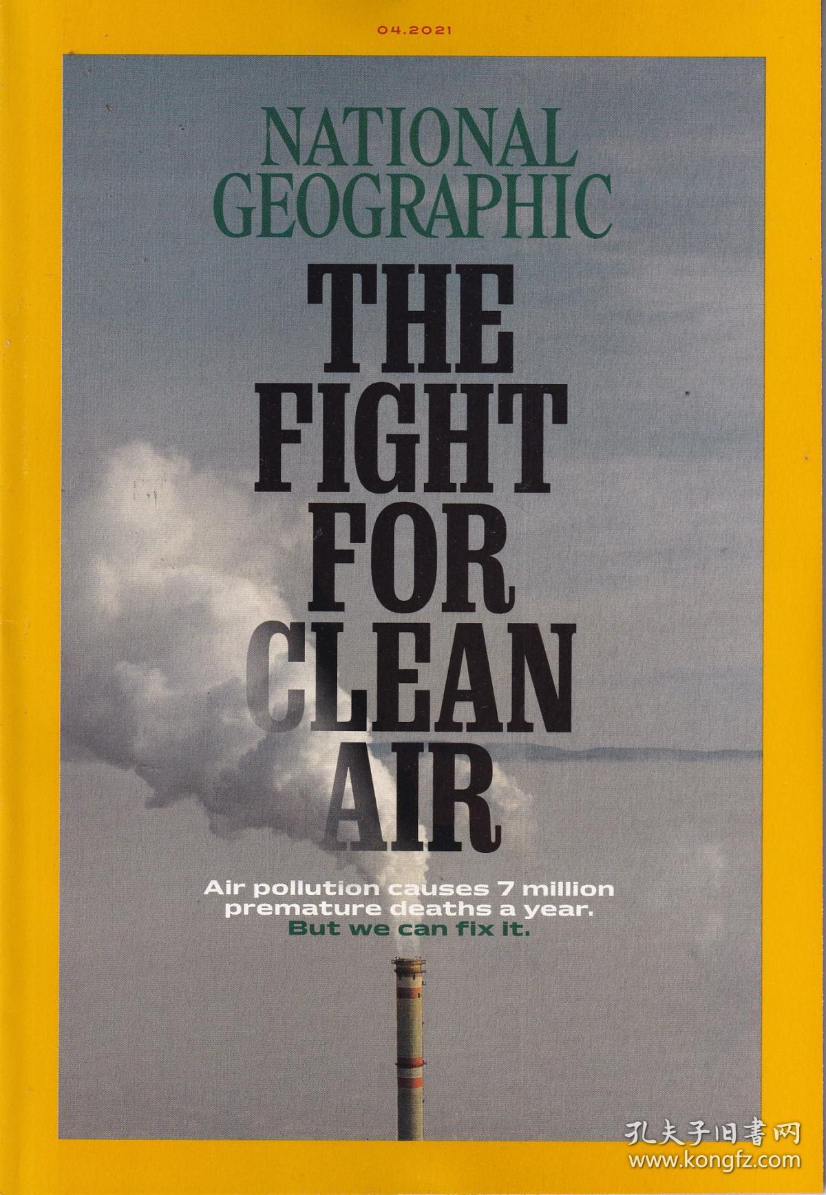 National Geographic 美国国家地理2021年4月 英文版旅游杂志