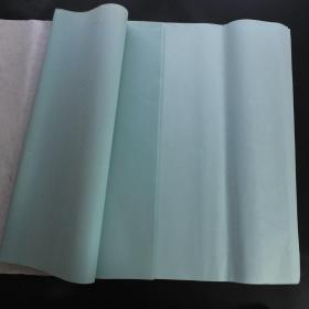 中国安徽老宣纸 色纸 水蓝色169*70cm50张手漉加工纸 N1121