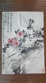 中国美院教授朱颖人国画花草图