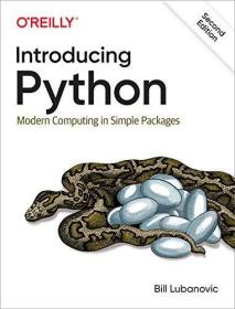 Introducing Python 2nd Edition /Bill Lubanovic O'reilly Medi
