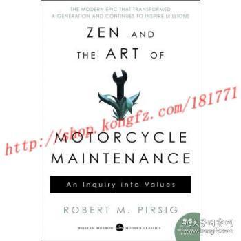 【进口原版】禅与摩托车维修技术 Zen and the Art of Motorcycle Main...