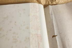 日本定制中国90年代红星牌老宣纸单宣棉料半切100张N1122