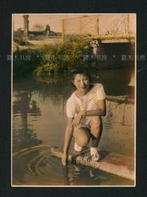 『精品』民国手工上色美女照片2,原版老照片