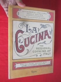 La Cucina: The Regional Cooking of Italy     ( 16开,硬精装)  【详见图】,全新未开封