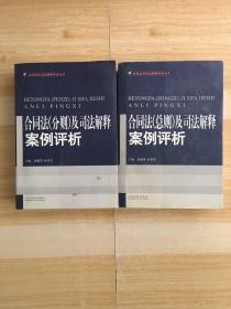 合同法及司法解释案例评析(分则、总则)【2本合售】