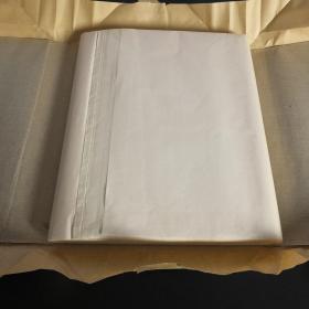 中国出口日本芙蓉笺老宣纸四尺半切100张1刀书画用N1130