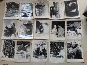 毛主席老照片15张合售