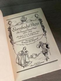 Everybody's Pepys(《人手一本皮普斯》,E.H.Shepard插图,布面精装,毛边,1928年老版书,带藏书票)