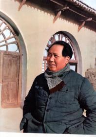 一九四五年,毛主席在延安