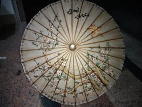 老物件~收来早期纯手绘手工老油纸伞一把(保存完好工艺精良)长50cm