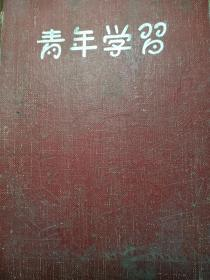 青年学习。老日记本。