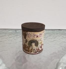 漂亮的民国美丽牌铁皮圆烟罐