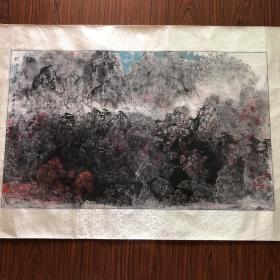吴成槐山水画 【95厘米x57厘米】