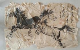 著名画家满玉乔先生国画 《奔马图》