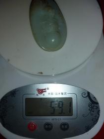 老和田玉,籽料,寿星,触手温润油性十足,59克