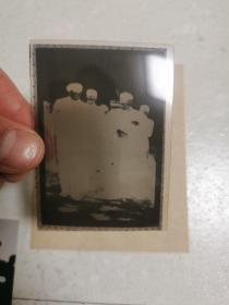 毛主席视察开封柳园口  底片一张  翻拍照片一张
