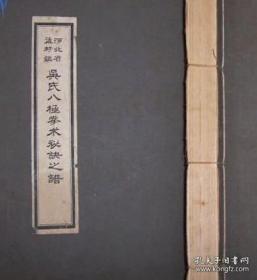 吴氏八极拳谱书