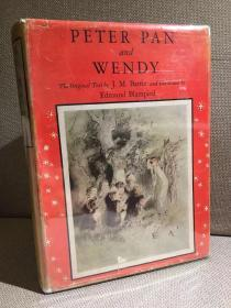 Peter Pan and Wendy(J.M.巴里《彼得·潘与温蒂》,难找的Edmund Blampied插图版,布面精装大开本,罕见带护封,1940年珍贵美国初版)