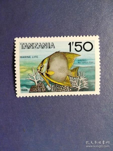 外国邮票   坦桑尼亚邮票  86年鱼(无邮戳新票)
