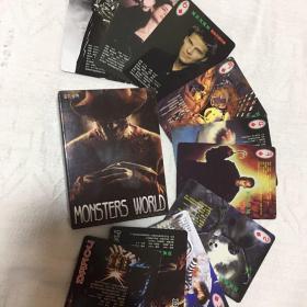 怪物世界扑克牌收藏超自然怪物图片异域怪物怪物人等恐怖卡片