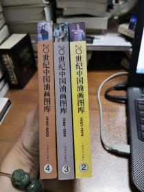 20世纪中国油画图库  (2、3、4) 三本合售
