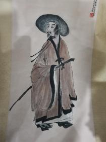 江西南昌收购:傅抱石造像,画工精妙,题跋字多,确保手绘老画。
