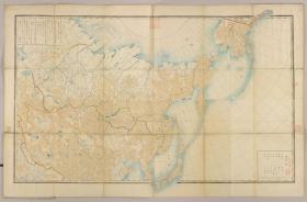 古地图1867 亚西亚略图俄陆军所绘制。纸本大小182*120厘米。宣纸艺术微喷复制。600元包邮