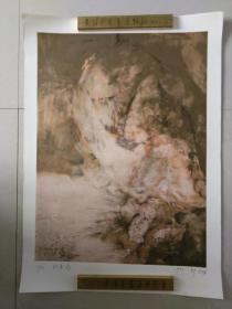 """郭召明(湖北美术学院版画系主任)石版画""""秋意浓""""一件,仅印30张,品好包快递。"""