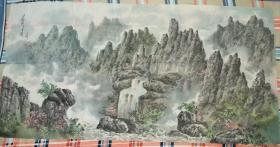 朝鲜画家巨幅中国山水画(第一幅)