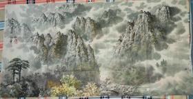 朝鲜画家巨幅中国山水画(第二幅)