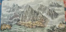 朝鲜画家巨幅中国山水画(第四幅)