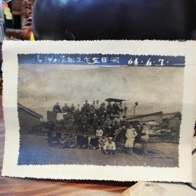 夏锄检查组工作在田间      64.6.7   (老照片)   黑龙江省地方国营福安农场买草现场工作会议