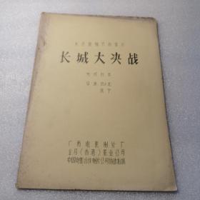 长城大决战(完成台本)彩色遮幅式故事片