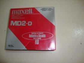 maxell MD2-D (软盘10张)未拆封