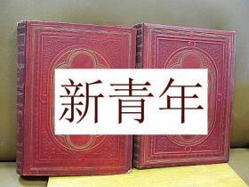 稀缺, 《 圣经 2卷全 》230幅多雷版画插图,超大开本43 x 32 cm   约1888年出版