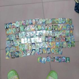 北京统一100封神食品卡(闪光,封神114张,三国8张,品好,请看图)