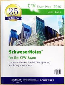 2016 Level I CFA Book 4 2016年一级CFA第4册.