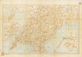 古地图1868 满洲全图。纸本大小98*68.4厘米。宣纸艺术微喷复制。200元包邮