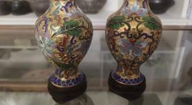 创汇产品,景泰蓝鎏金花瓶-643122