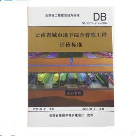 2020版云南省城市地下综合管廊工程计价标准 云南管廊定额 云南定额 1E25g