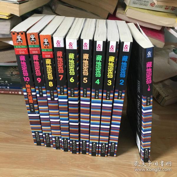 藏地密码1-10册 全套十本合售  第一册 有水印 可以阅读 其它九本近全新 见图 正版 无笔迹
