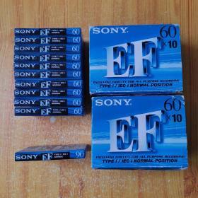 SONY EF60 磁带 (空白磁带60分3盒x10=30盘+90分1盘)共31盘 未开封