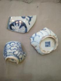 明清青花瓷片