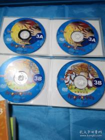 figerprints{全英文教程DVD盘(1A、2A、3A)+外教DVD(1B、2B、3B)}共11张和售2B缺一张Disk1