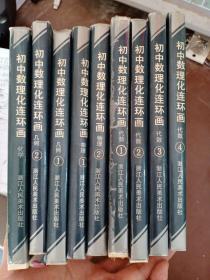 初中数理化连环画(全九册)精装 (9册全)一版一印