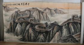 著名当代山水画家 冯墨石 2006年作 国画作品《中华万里魂》一幅(纸本立轴,画心约43.3平尺,钤印:墨石写意)HXTX329525